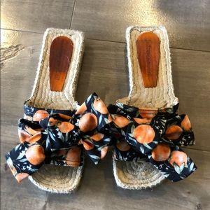 Jeffrey Campbell Orange Print sandals